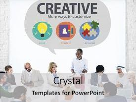 Slide deck with creative innovation vision inspiration customize concept background and a light gray colored foreground