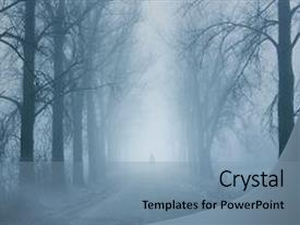 Top Horror Road Powerpoint Templates Backgrounds Slides