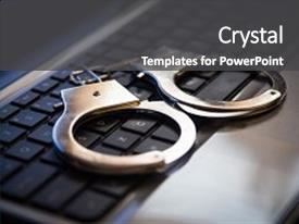 Cool new slides with crime hacking bullying against law backdrop and a dark gray colored foreground.