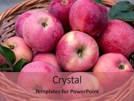 Beautiful presentation theme featuring cripps pink apples and pink backdrop and a coral colored foreground.