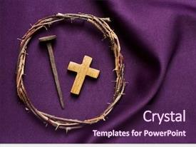 Theme featuring crown of thorns of jesus background and a violet colored foreground