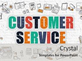 Slide deck consisting of customer service - multicolor concept background and a light gray colored foreground