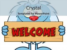 5000 cute little cartoon powerpoint templates w cute little ppt theme with cute little yeti cartoon mascot background and a light blue colored foreground toneelgroepblik Choice Image