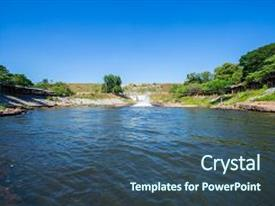 5000 dam powerpoint templates w dam themed backgrounds theme with dam water releasethe excess capacity of the dam until spring way overflows background toneelgroepblik Gallery