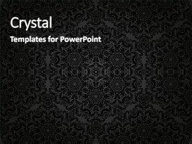 PPT layouts featuring damask floral dark pattern background and a black colored foreground.