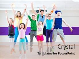 200 zumba powerpoint templates w zumba themed backgrounds beautiful theme featuring group dynamics dance teacher giving children zumba backdrop and a light gray toneelgroepblik Gallery