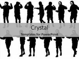 PPT layouts enhanced with physical activity - danser men in rap style background and a light gray colored foreground