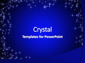 Amazing PPT theme having dark blue card backdrop and a royal blue colored foreground.