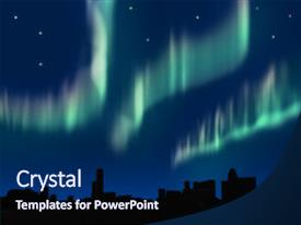 Cool new slide deck with dark blue - simulated aurora in the night backdrop and a navy blue colored foreground.