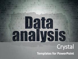 Theme consisting of painted black text data analysis background and a gray colored foreground.