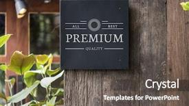 Audience pleasing presentation design consisting of design - mockup signage outdoor backdrop and a dark gray colored foreground