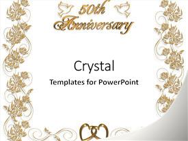50th wedding anniversary powerpoint templates crystalgraphics