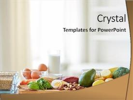 PPT theme having diet cooking culinary and food background and a white colored foreground