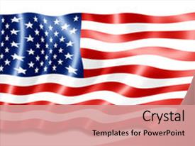 Beautiful slide deck featuring digital art of american flag backdrop and a coral colored foreground.