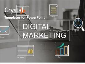 Digital Powerpoint Templates W Digital Themed Backgrounds