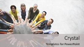 Cool new slides with diverse people friendship togetherness connection backdrop and a light gray colored foreground