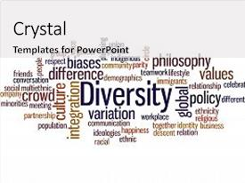 Beautiful theme featuring diversity word cloud concept on backdrop and a white colored foreground