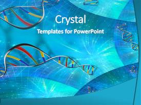 PPT layouts consisting of dna strand background background and a teal colored foreground.