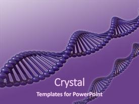 Colorful presentation theme enhanced with dna strands on violet background - 3d illustration backdrop and a violet colored foreground