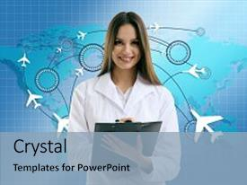 Medical tourism powerpoint templates crystalgraphics presentation consisting of doctor on virtual background medical background and a light blue colored foreground toneelgroepblik Image collections