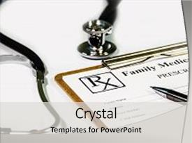 PPT layouts enhanced with doctor - doctorate - prescription form background and a light gray colored foreground.