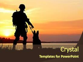 5000 military powerpoint templates w military themed backgrounds beautiful theme featuring ammunition dog on sunset background backdrop and a tawny toneelgroepblik Images