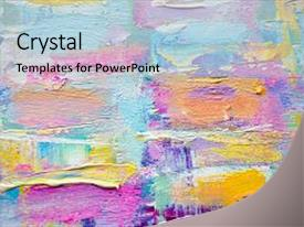 Slide deck enhanced with drawn acrylic painting abstract art background and a light gray colored foreground.