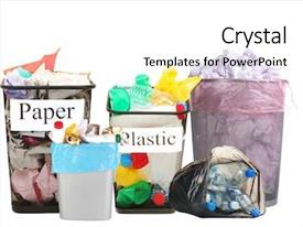 Food Waste Dirty Plastic Container Powerpoint Templates W
