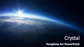 PPT layouts consisting of earth - near space photography - 20km background and a navy blue colored foreground