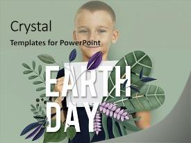Beautiful PPT layouts featuring earth eco peace organic fresh backdrop and a light gray colored foreground