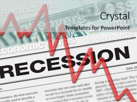 Presentation theme enhanced with economic downturn and stock market background and a light gray colored foreground.
