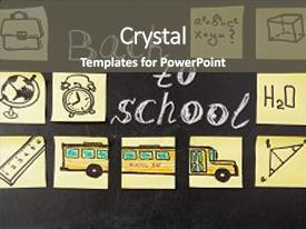Presentation design consisting of attributes - education - back to school background and a dark gray colored foreground.
