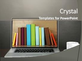 5000 digital library powerpoint templates w digital library themed presentation theme enhanced with education e learning concept digital background and a gray colored toneelgroepblik Image collections