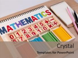 Math powerpoint templates ppt themes with math backgrounds beautiful ppt theme featuring educational kids toy wooden backdrop and a coral colored toneelgroepblik Choice Image
