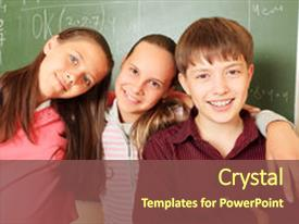 Audience pleasing PPT layouts consisting of educational theme children backdrop and a tawny brown colored foreground.