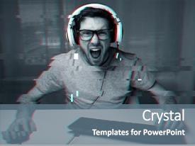 300+ Glitch PowerPoint Templates w/ Glitch-Themed Backgrounds