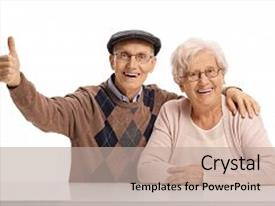 Elderly powerpoint templates ppt themes with elderly backgrounds audience pleasing presentation theme consisting of man holding his thumb backdrop and a toneelgroepblik Image collections