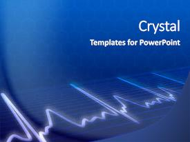 Slide deck consisting of electronic cardiogram on blue background background and a dark gray colored foreground.