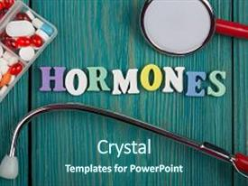 300 endocrine system powerpoint templates w endocrine system presentation theme with endocrine system text hormones background and a ocean colored foreground toneelgroepblik Gallery