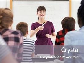 5000 teenage powerpoint templates w teenage themed backgrounds presentation theme with teacher with class of teenage background and a gray colored foreground toneelgroepblik Choice Image