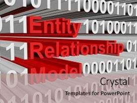 Database design er diagram powerpoint templates w database design ppt theme having er diagram entity relationship model is represented background and a coral colored ccuart Image collections