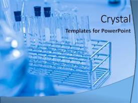 PPT theme enhanced with water - equipment with laboratory on background background and a light blue colored foreground.