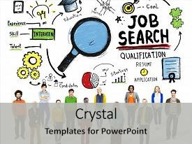 Presentation theme consisting of ethnicity business people career job background and a light gray colored foreground