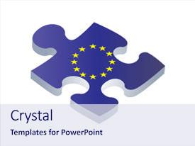 European union powerpoint templates crystalgraphics slide deck consisting of european union flag on puzzle background and a sky blue colored foreground toneelgroepblik Image collections