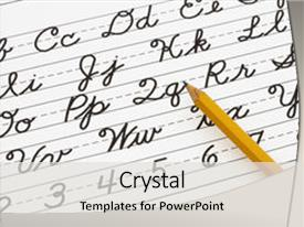 500 Cursive Writing Powerpoint Templates W Cursive Writing Themed