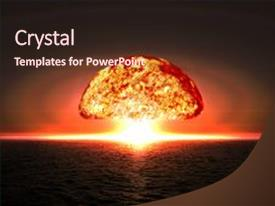 Nuclear powerpoint templates ppt themes with nuclear backgrounds slide deck enhanced with explosion bomb in ocean background and a wine colored toneelgroepblik Choice Image