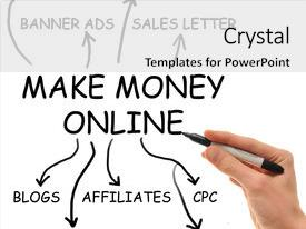 Audience pleasing slide deck consisting of extremely popular make money online backdrop and a white colored foreground.