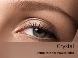Beautiful slide set featuring eye makeup beautiful eyes make backdrop and a coral colored foreground.