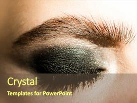 Theme enhanced with eye shadow eye makeup black background and a tawny brown colored foreground.