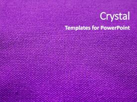 Colorful PPT layouts enhanced with fabric texture purple cloth background backdrop and a purple colored foreground.